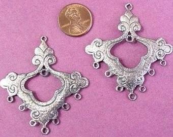 Satinated Sterling Silver Large Magic Versatile Chandelier, Pendant X1