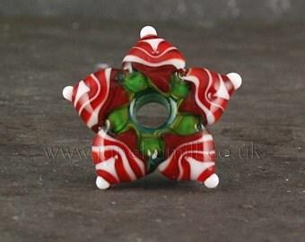Yule Star Handmade Lampwork Bead Focal