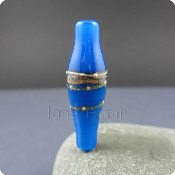 """Lampwork glass bead, """"Vial"""", focal or pendant, FHFteam, GBUK"""