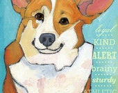 Corgi No. 2 - Set of 6 Blank Cards with Envelopes in Clear Sleeve