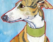 Greyhound No. 1 - Set of 6 Blank Cards with Envelopes in Clear Box