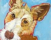 "Ibizan Hound No. 2 - Wire coated Ibizan Art Print 8.5x11"""