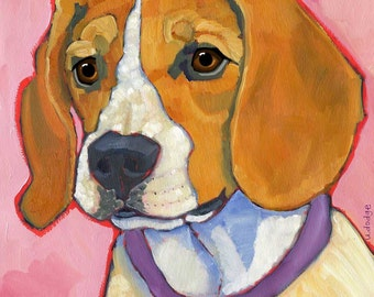 Beagle No. 1 - Set of 6 Blank Cards with Envelopes in Clear Sleeve