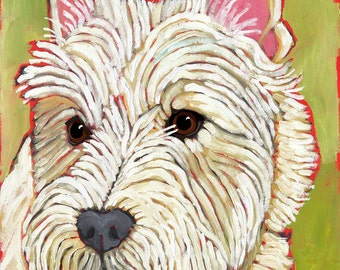 West Highland Terrier (Westie) No. 1 - magnets coasters and art prints
