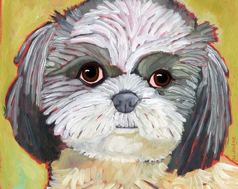 Shih Tzu No. 2 - magnets coasters and art prints