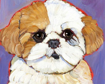 Shih Tzu No. 3 - magnets coasters and art prints