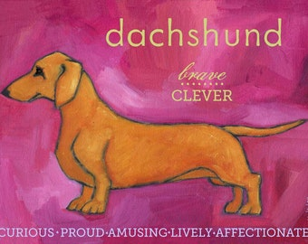Dachshund No. 1 - magnets, coasters and art prints