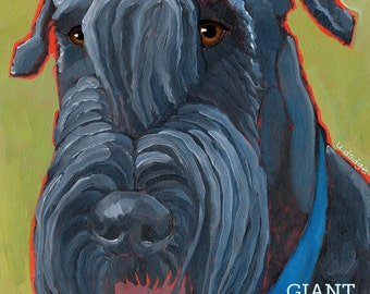 Schnauzer No. 4 - giant schnauzer, magnets, coasters and art prints