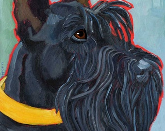 Scottish Terrier No. 1 - magnets, coasters and art prints