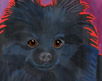 Pomeranian No. 3 - magnets, coasters and art prints