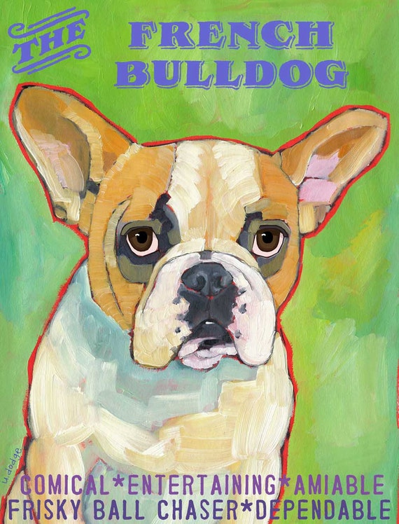 French Bulldog No. 1 - Set of 6 Blank Cards with Envelopes in Clear sleeve