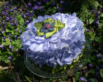 Birthday Cake Faux Flower Petal Cake Periwinkle with Green Bridal Shower Cake Wedding Centerpiece Display Cake