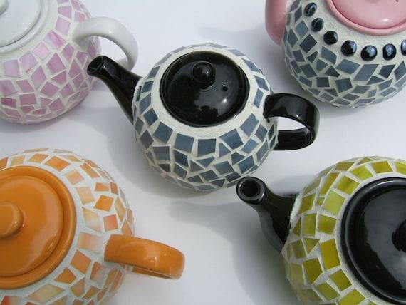 Mosaic Teapot - Black and Gray