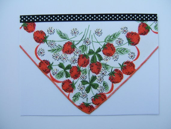 Decorated Card with Ladies Handkerchief