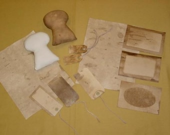 TEA STAIN RECIPE / Make your own grubby stain / how to tea stain / tea stain paper / tea stain fabric / best way to tea stain / tea stain