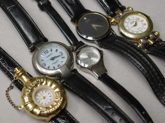 Group of 5 vintage watches / parts and pieces/ steam punk