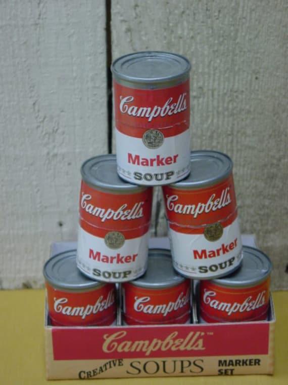 Six CAMPBELLS SOUP MARKERS / Campbells soup collectibles
