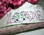 LOVE embroidery pattern