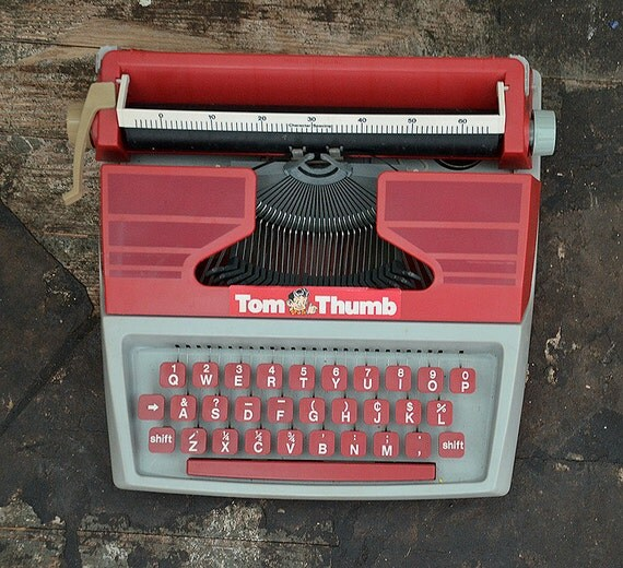 Vintage Tom Thumb Toy Typewriter