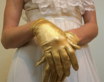GOLD SHIMMERY GLOVES