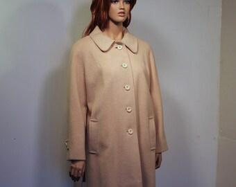 1950s Cream Wool Coat