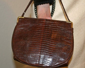 VINTAGE LIZARD PURSE, Hand Bag