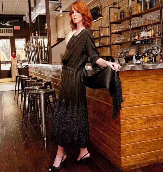 1st Depression, 30s, FABULOUS Beaded Dress