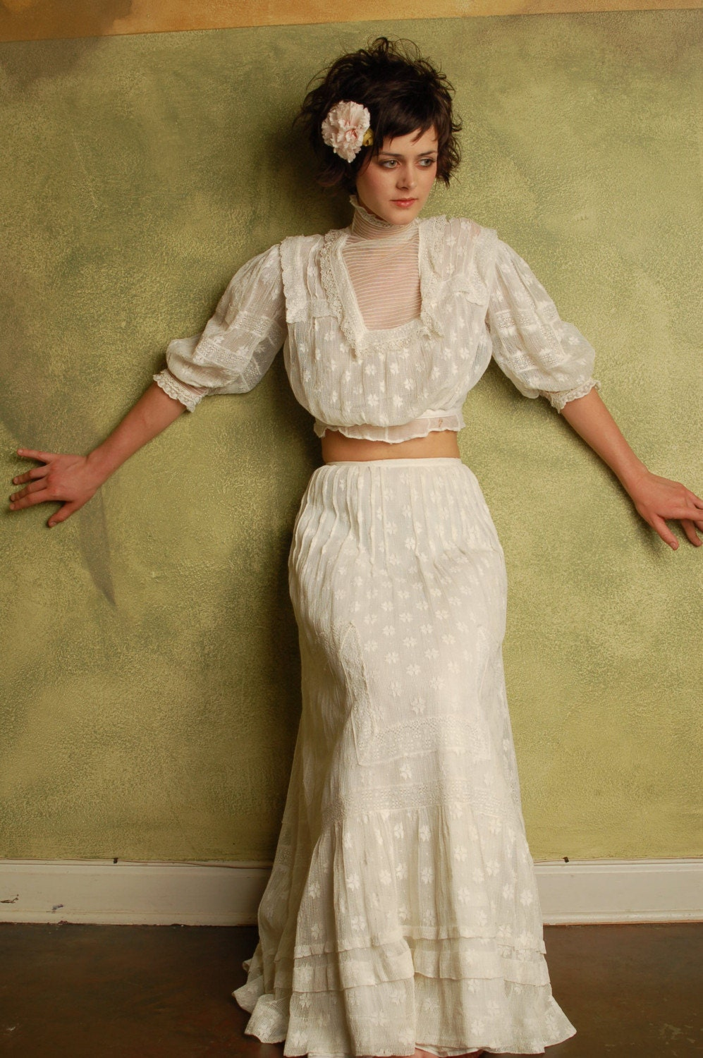 Lace Blouse And Skirt 25