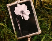 Narcissus Soldered Glass Pendant Necklace