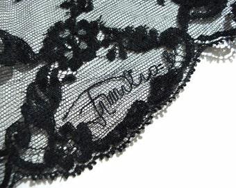 Vintage 1970s Emilio Pucci Teddy - Signed Emilio Formfit Rogers Black Lace Trim S