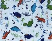 Hoffman Land O Dinos Flannel - The Tiny T-Rex in Blue