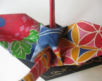 Extra Large Origami Crane - Japanese Folklore Abstract
