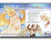 Angelic Visions Book Learn How to Draw and Paint Fantasy Angels with Mixed Media Techniques Color Pencils, Watercolors, and Ink