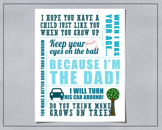 Printable Printable Father's Sayings Illustrated