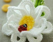 CROCHET PATTERN Garden Party. DAISY Pin/Headband Crochet Pattern in Pdf