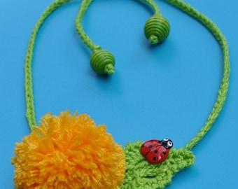 CROCHET PATTERN Garden Party. DANDELION Pin/Headband Crochet Pattern in Pdf
