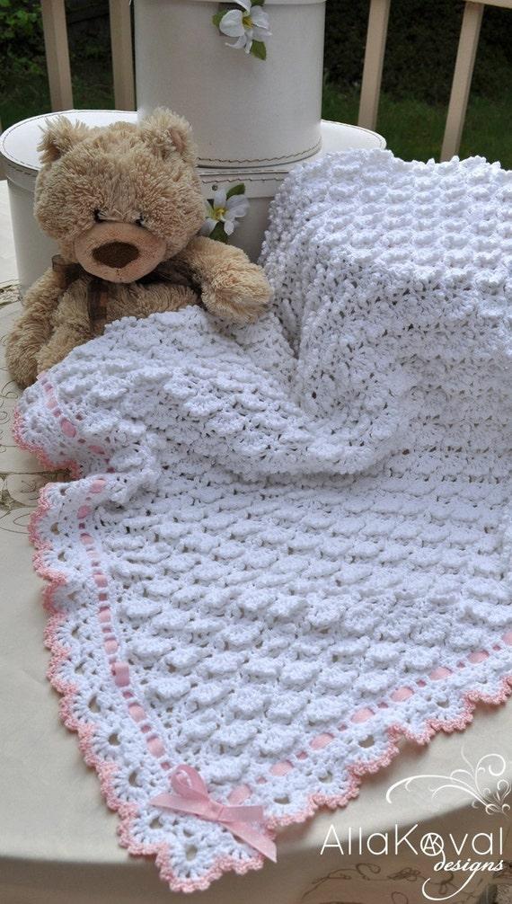 Crochet Baby Blanket Pattern Etsy : Fluffy Clouds Baby Blanket Crochet by mylittlecitygirl on Etsy