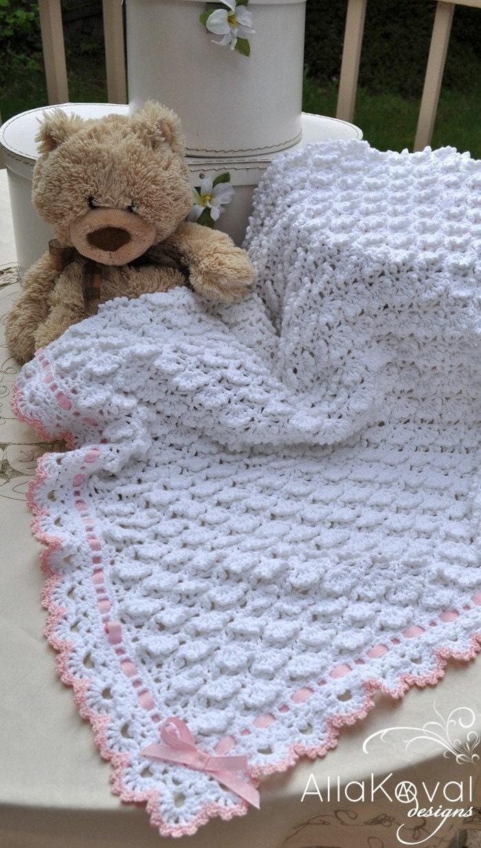 CROCHET PATTERN Fluffy Clouds Baby Blanket Ebook Crochet