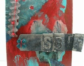 Original Collage, Altered Art - Mixed Media on Canvas