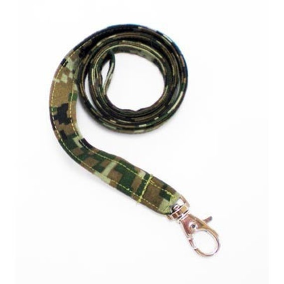 Lanyard ID Badge Holder Key Leash - Camouflage