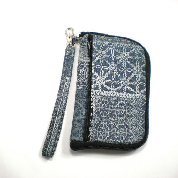 iPod Case, iPhone Cell Phone Case, Smartphone Phone, Wristlet, Gray Tiles