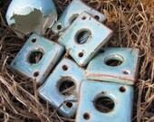 RESERVE- Robins Egg Blue Stoneware Diamond Links