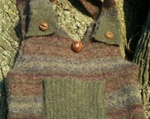 Recycled Sweater Purse Earth Tones