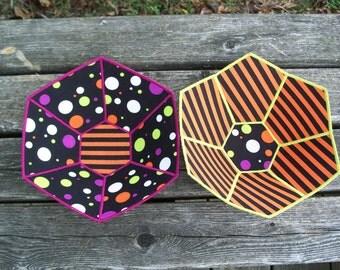 Halloween Fabric Bowls