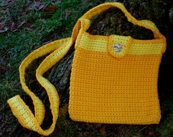 Recycled Purse Yellow