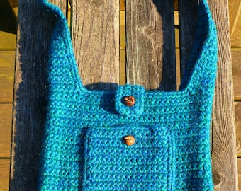 Teal Purse Recycled Wool
