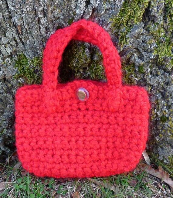 Red Wristlet Purse Crochet