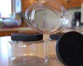 One Doz 8oz Oval Jars With Lids