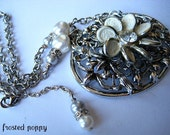 Luxe Bridal Necklace. Vintage Wedding Jewelry. One of a Kind. FREE SHIPPING