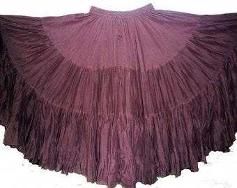 Pretty Eggplant Purple Cotton 25yd Skirt
